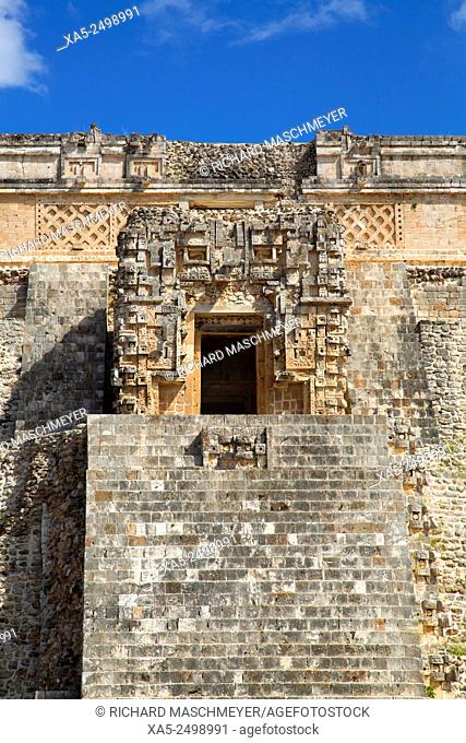 Pyramid of the Magician, Uxmal Mayan Archaeological Site, Yucatan, Mexico