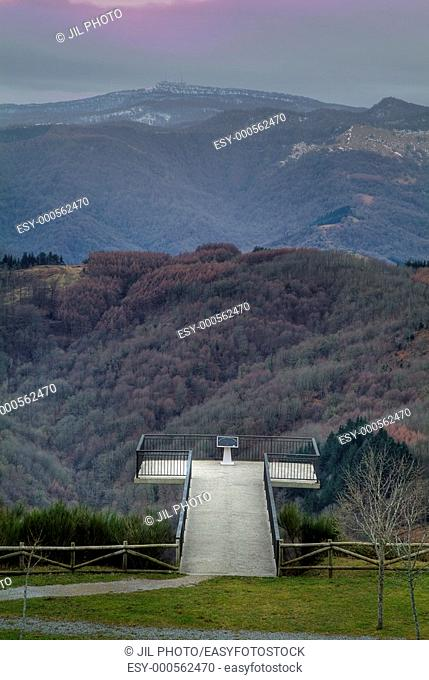 Viewpoint at the Port of Azpiroz. Navarra. Basque Country. Spain