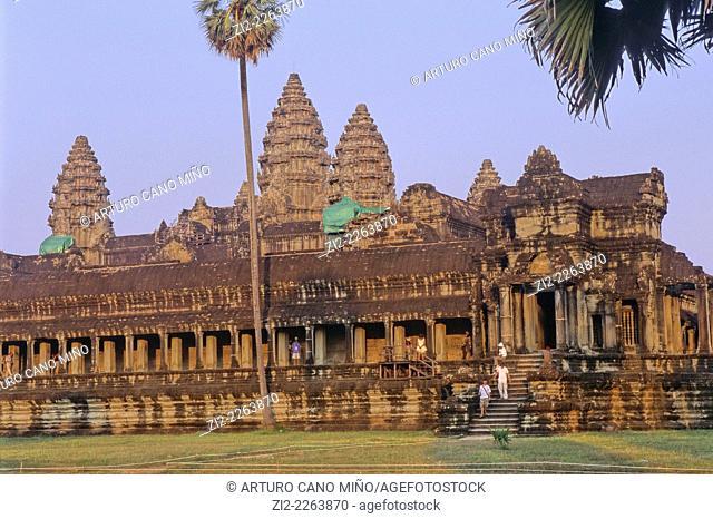 Angkor Wat, Hindu temple, XIIth century. Angkor, Siem Reap Province, Cambodia
