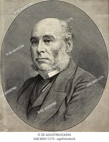 Portrait of William Henry Smith (1825-1891), English bookseller, engraving from The Illustrated London News, No 2738, October 10, 1891