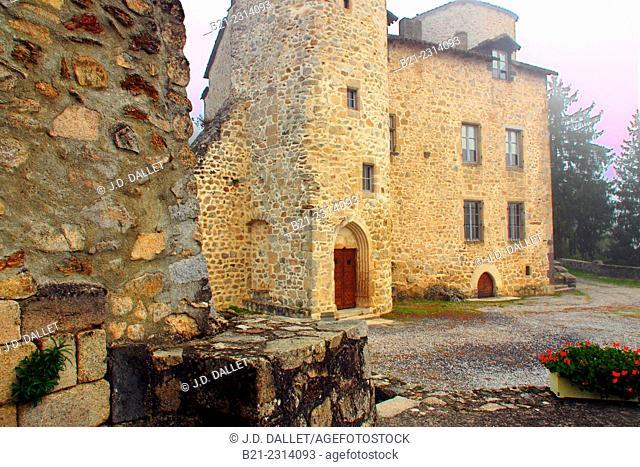 12th century castle at La Roquebrou, Cantal, Auvergne, France