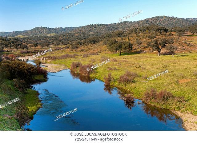 Viar river, Pallares, Badajoz province, Spain, Europe