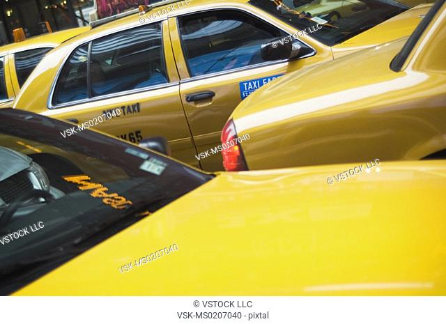 Taxi in traffic