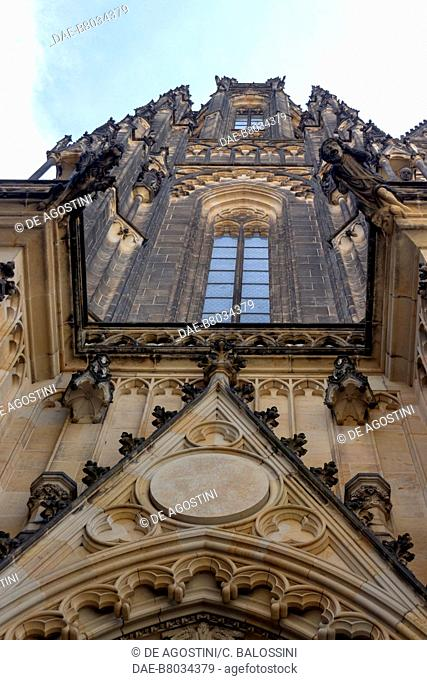 Spires and pinnacles (14th century), Cathedral of St Vitus, architects Matthias of Arras and Peter Parler, Historic Center of Prague (Unesco World Heritage List