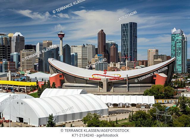 The city skyline of Calgary, Alberta, Canada