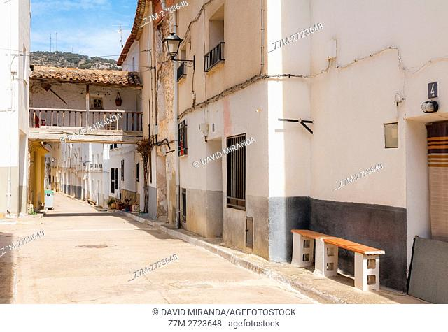 Traditional architecture, Cañete, Cuenca province, Castile la Mancha, Spain. Historic and Artistic Heritage