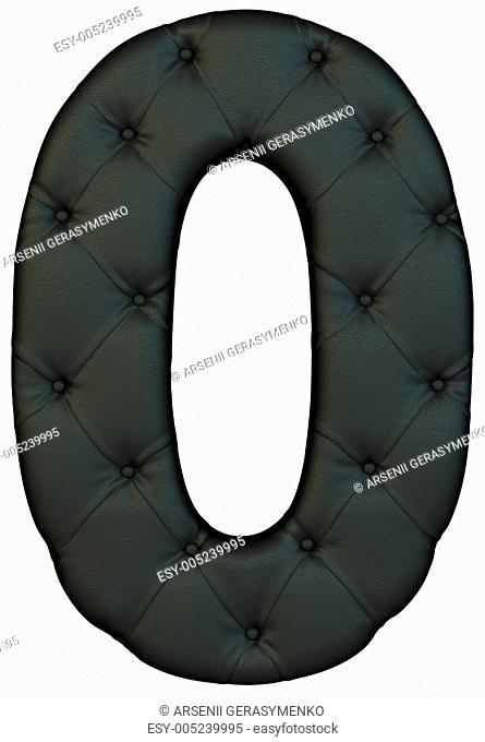 Luxury black leather font 0 figure