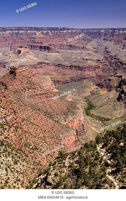 The USA, Arizona, Grand canyon National Park, South Rim, Bright Angel Trail