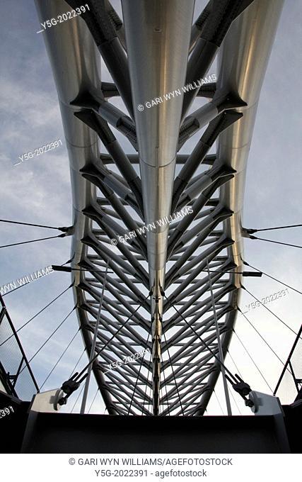 ponte dell'ostiense bridge in the garbatella district of rome italy