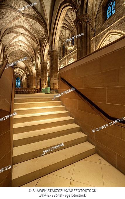 Interior of St Giles Cathedral, Edinburgh, Scotland