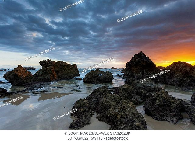 Sunrise at Playa Toranda in Asturias