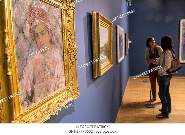 PAINTING BY BLANCHE HOSCHEDE, CLAUDE MONET'S CHILD, PERMANENT EXHIBITION, MUSEUM OF IMPRESSIONISM, GIVERNY, EURE (27), NORMANDY, FRANCE
