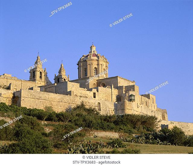 Holiday, Landmark, Malta, Mdina, Skyline, Tourism, Town, Travel, Vacation