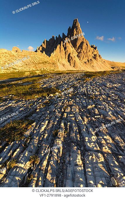 Mount Paterno at Sunset, Bolzano province, Trentino Alto Adige, Italy