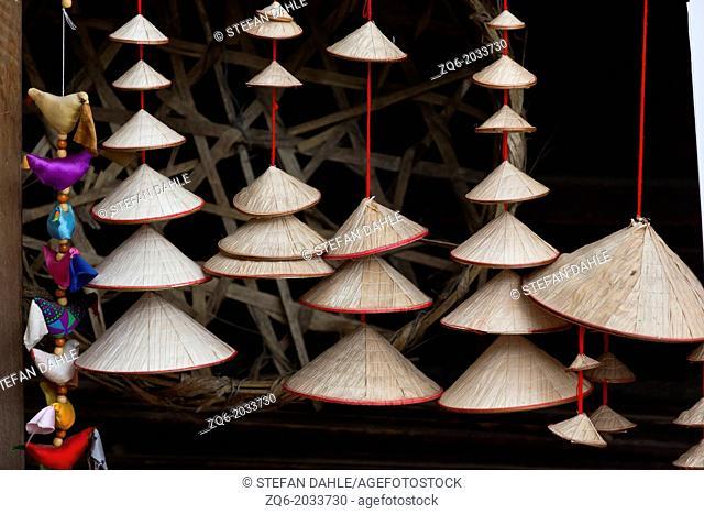 Traditional Vietnamese Non La Straw Hat in Hanoi, Vietnam