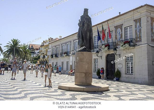 Historic Centre, Town Square,Town hall, Statue Of King Peter. Cascais, Portugal