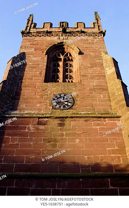 View of St Peters church, Edgemond, Shropshire, England, UK