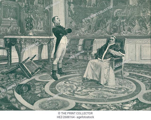 'Napoleon And Pius VII at Fontainbleau', 1813, (1896). Artist: Peter Aitken