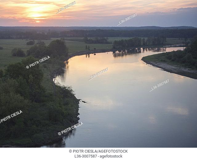 Poland. Podlasie region. Bug river near the Belorussian border