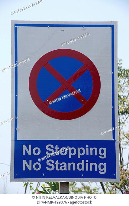 Sign board on road, bhubaneswar, orissa, india, asia