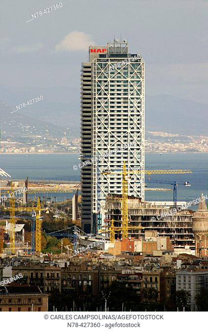 Mapfre Tower and Hotel Arts. Barcelona. Spain