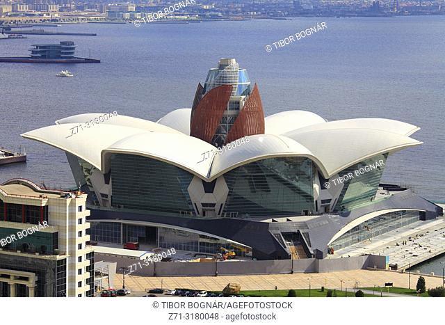 Azerbaijan, Baku, Caspian Waterfront Mall, modern architecture,