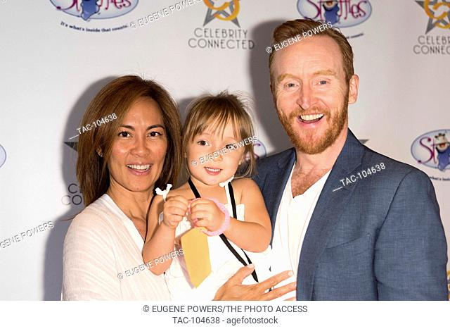 Tony Curran with family at Celebrity Connected 2016 Luxury Gifting Suite red carpet honoring The Emmys® at the W Hotel Hollywood on September 17