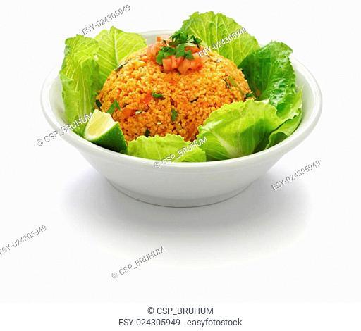 bulgur salad, turkish food