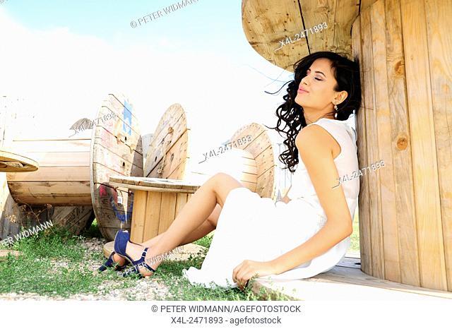 Young, pretty woman, Austria, Burgenland