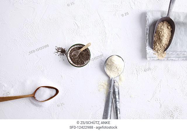 Birch sugar, chia seeds, psyllium husks and coconut flour