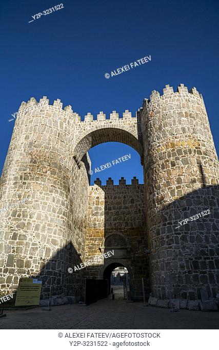 City walls of Ãvila, Castile and León, Spain