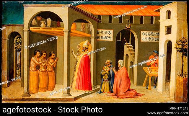 Saint Nicholas Resuscitating Three Youths. Artist: Bicci di Lorenzo (Italian, Florence 1373-1452 Florence); Date: 1433-35; Medium: Tempera and gold on wood;...