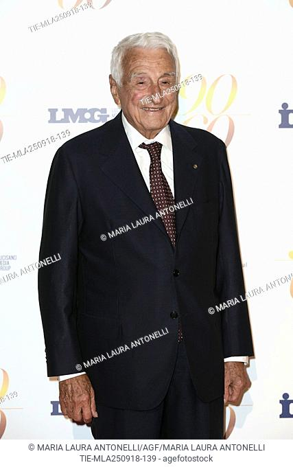 Fulvio Lucisano during red carpet of 60/90 party, for 60 years of career and ninetieth birthday of Fulvio Lucisano, Italian Film Producer