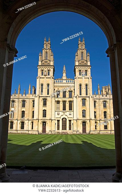 All Souls College, Oxford, England, UK
