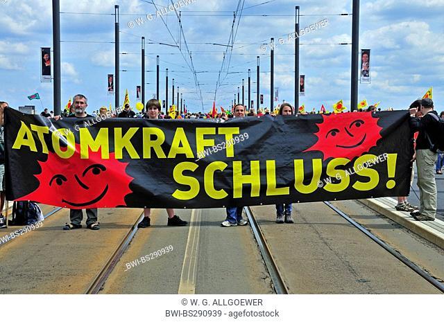 anti-nuclear demonstration, Germany, North Rhine-Westphalia, Bonn