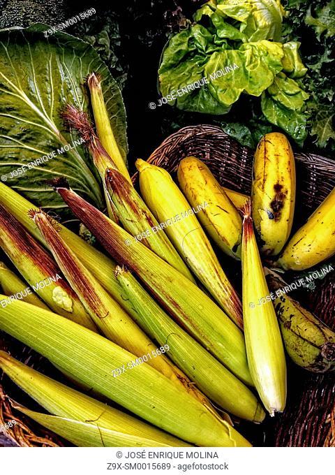 Organic market in Lima, Peru