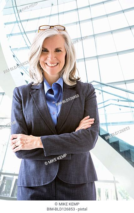 Portrait of confident Caucasian businesswoman