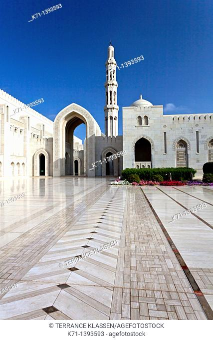 Architecture of the Grand Mosque in Muscat, Oman