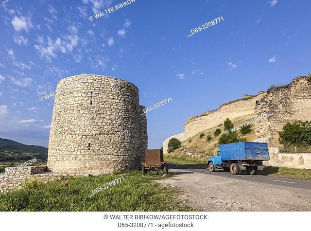 Nagorno Karabakh Republic, Askeran, Mayraberd Fortress, 18th century, fortress ruins and truck