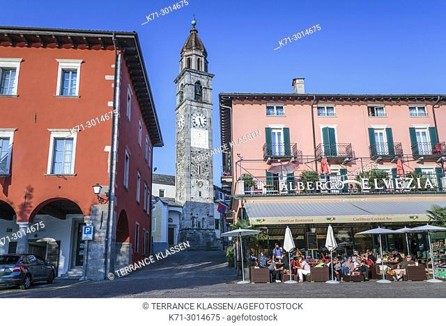 The town of Ascona on Lake Maggiore, Ticino, Switzerland, Europe