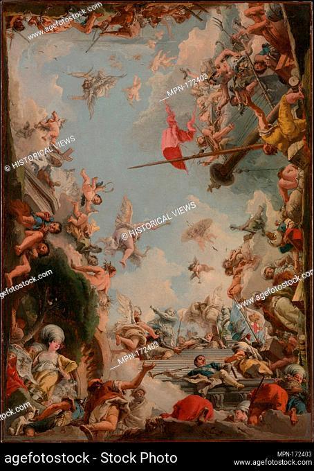 The Glorification of the Giustiniani Family. Artist: Giovanni Domenico Tiepolo (Italian, Venice 1727-1804 Venice); Date: 1783; Medium: Oil on canvas;...