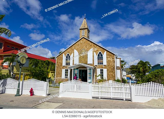 First Methodist Church at A cruise ship destination in the caribbean Philipsburg is the main town and capital of the country of Saint Sint Maarten