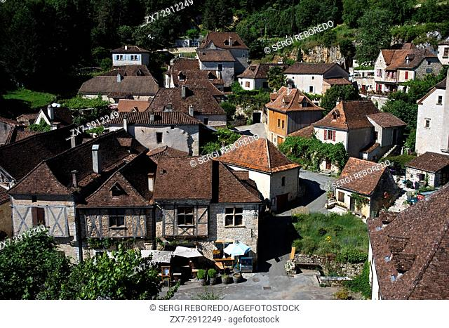 Village of Saint Cirq Lapopie, Midi Pyrénées, Lot, France