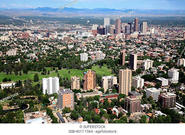Cheesman Park and Downtown Denver Skyline