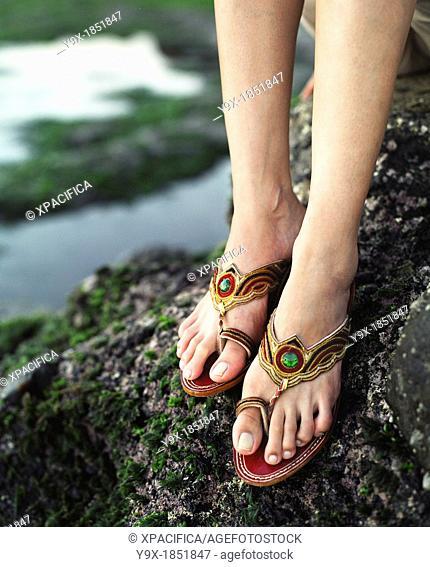 A beautiful young Pan Asian woman in Bali
