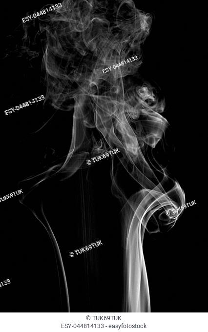 abstract background smoke curves and wave on black background