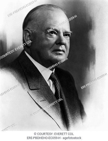 President Herbert Hoover 1874-1964, U.S. President 1929-1933, circa 1930s