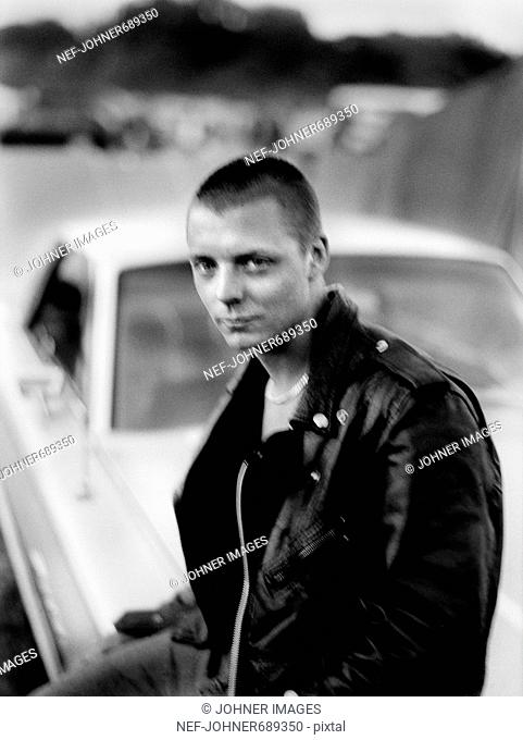 Member of a gang of youths who ride about in cars, Sweden
