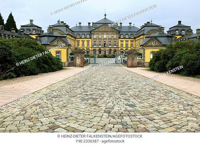 Entrance to Schloss Arolsen Castle, Hesse, Germany, Europe