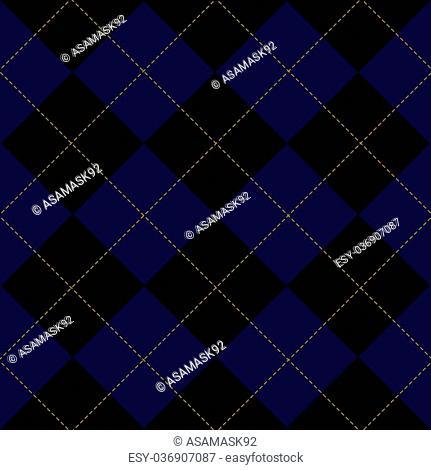 Royal Blue Diamond Background Vector Illustration